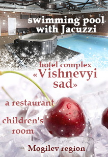 hotel complex Vishnevyi sad rest in Belarus rest pool with jacuzzi, restaurant, children's room winter 2020