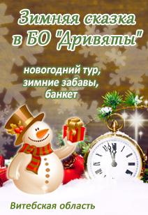 База отдыха Дривяты зимний отдых в Беларуси Новый год и Рождество базы отдыха Беларуси 2019