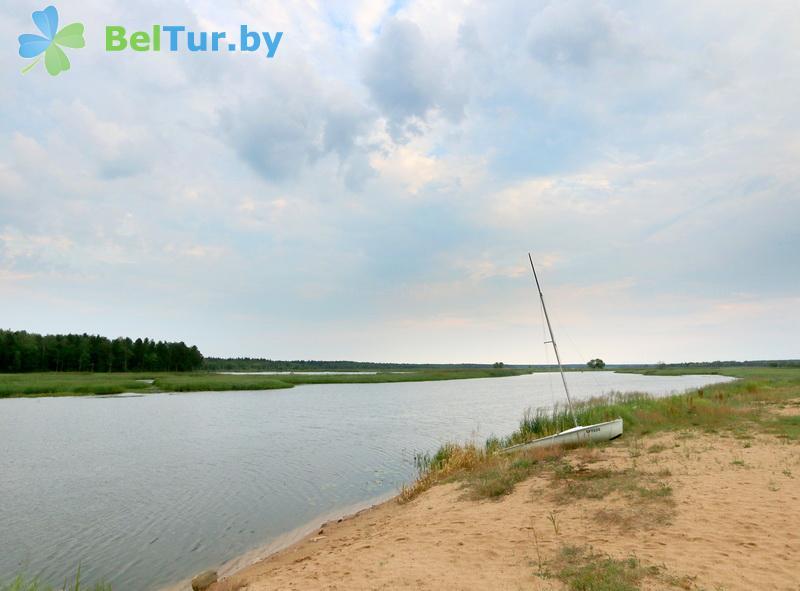 Отдых в Белоруссии Беларуси - экоотель Кветки Яблыни - Пляж