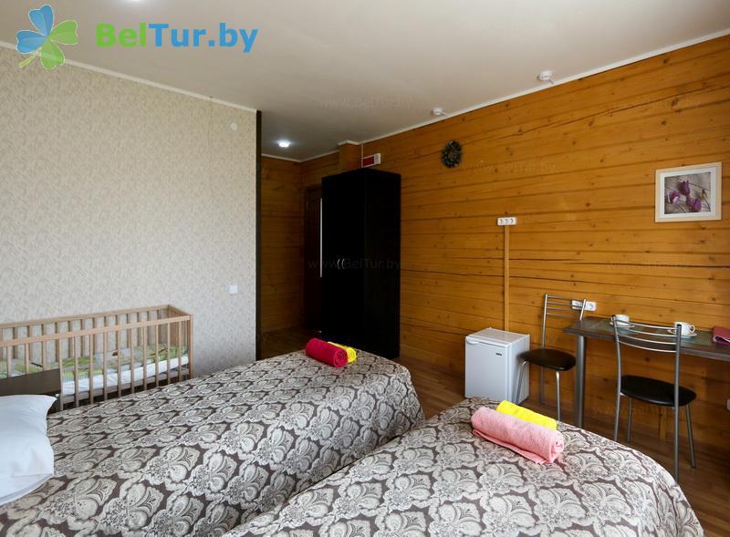 Отдых в Белоруссии Беларуси - экоотель Кветки Яблыни - двухместный однокомнатный полулюкс (дом «Рябина»)
