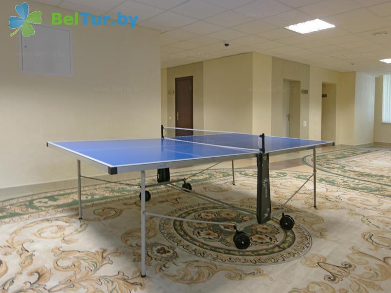Отдых в Белоруссии Беларуси - учебно-оздоровительный комплекс Форум - Теннис настольный