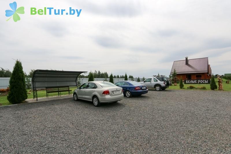 Отдых в Белоруссии Беларуси - база отдыха Белые Росы - Автостоянка