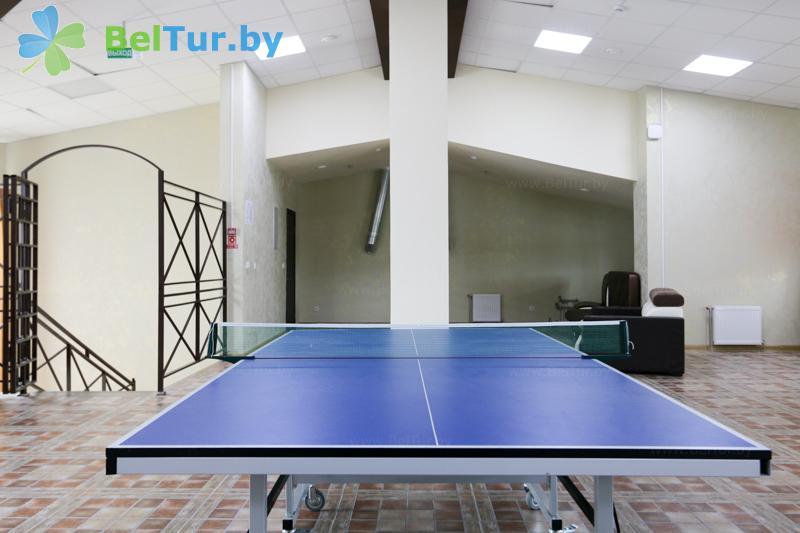 Отдых в Белоруссии Беларуси - база отдыха Чайка (Борисов) - Теннис настольный