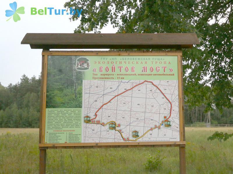 Отдых в Белоруссии Беларуси - гостиница Войтов мост - Схема территории