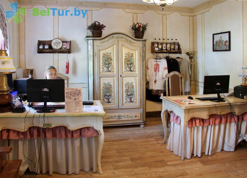 Отдых в Белоруссии Беларуси - туристический комплекс Наносы - Регистратура