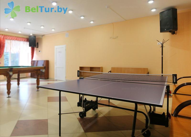 Отдых в Белоруссии Беларуси - база отдыха Глобус - Теннис настольный