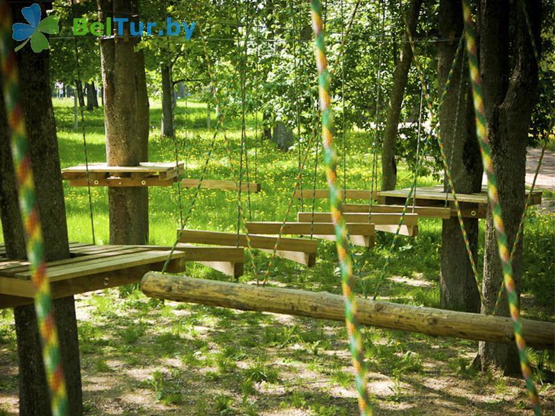 Отдых в Белоруссии Беларуси - усадьба Дукорский маёнтак - Веревочный городок