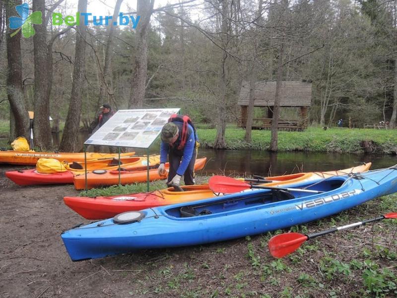 Отдых в Белоруссии Беларуси - усадьба Голубые озера - Прокат лодок