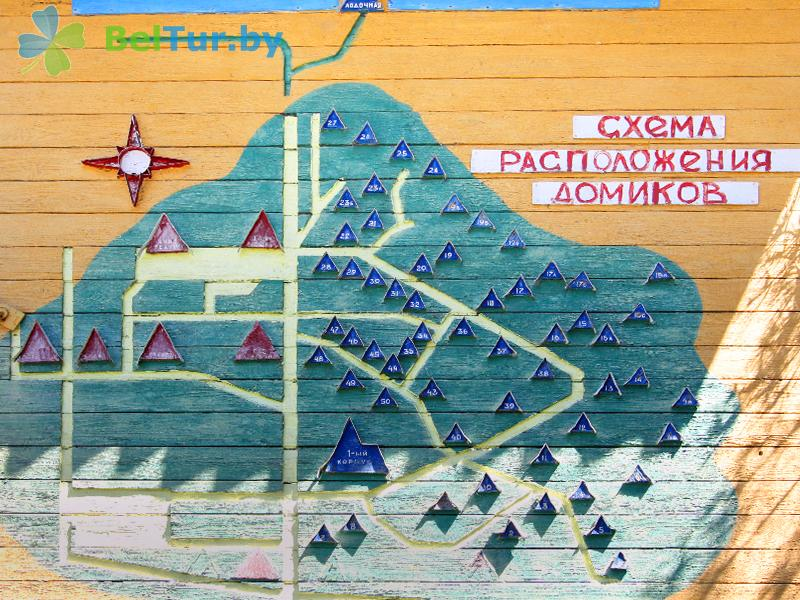 Rest in Belarus - recreation center Narochanka - Scheme of territory