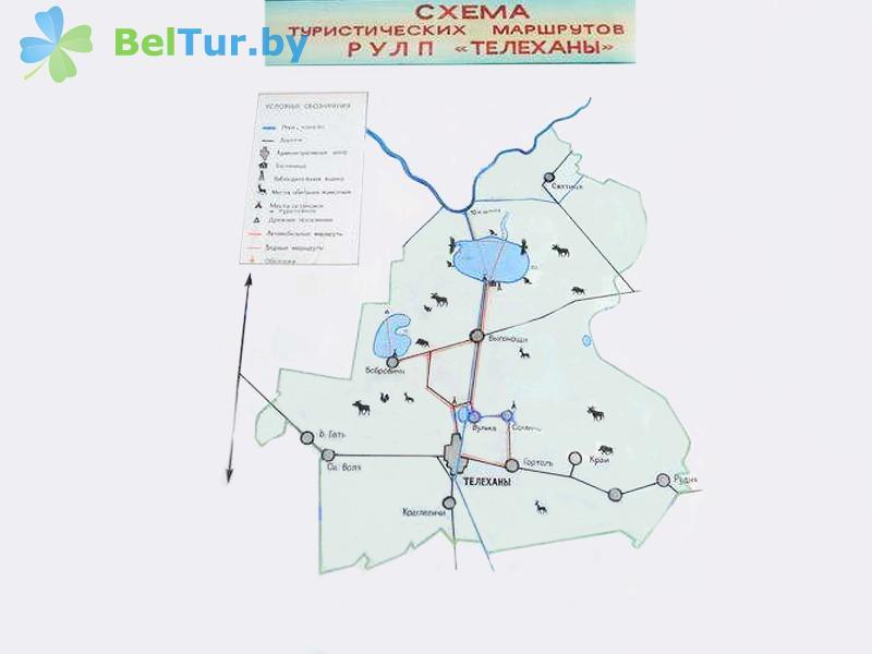 Отдых в Белоруссии Беларуси - дом охотника Выгоновский - Схема территории