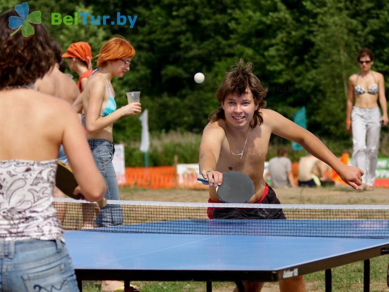 Отдых в Белоруссии Беларуси - база отдыха Экспедиция - Теннис настольный
