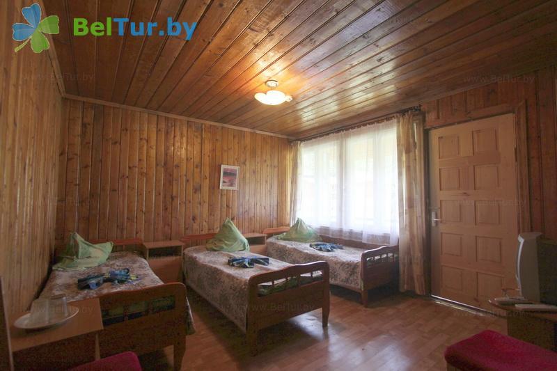 Отдых в Белоруссии Беларуси - туристический комплекс Браславские озера - трехместный в блоке (1 категория) (каскадный летний домик / с гор. водой)