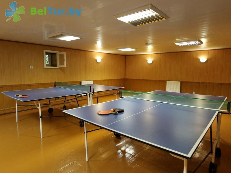 Отдых в Белоруссии Беларуси - база отдыха Милоград - Теннис настольный