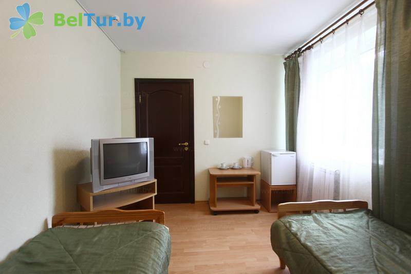 Отдых в Белоруссии Беларуси - база отдыха Дружба - двухместный однокомнатный эконом (спальный корпус №1)
