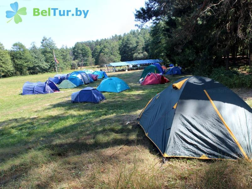 Отдых в Белоруссии Беларуси - база отдыха Галактика - Площадка для палаток