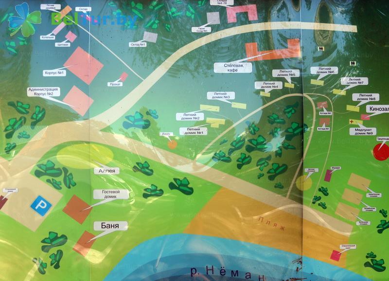 Отдых в Белоруссии Беларуси - туристический комплекс Высокий берег - Схема территории