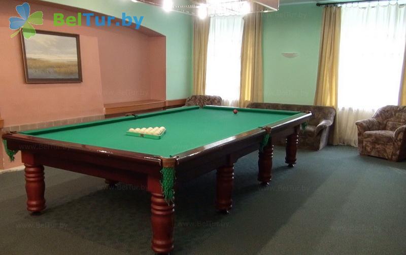 Отдых в Белоруссии Беларуси - гостиничный комплекс Сергуч - Бильярд