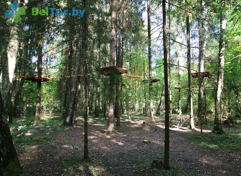 Отдых в Белоруссии Беларуси - гостиничный комплекс Сергуч - Веревочный городок