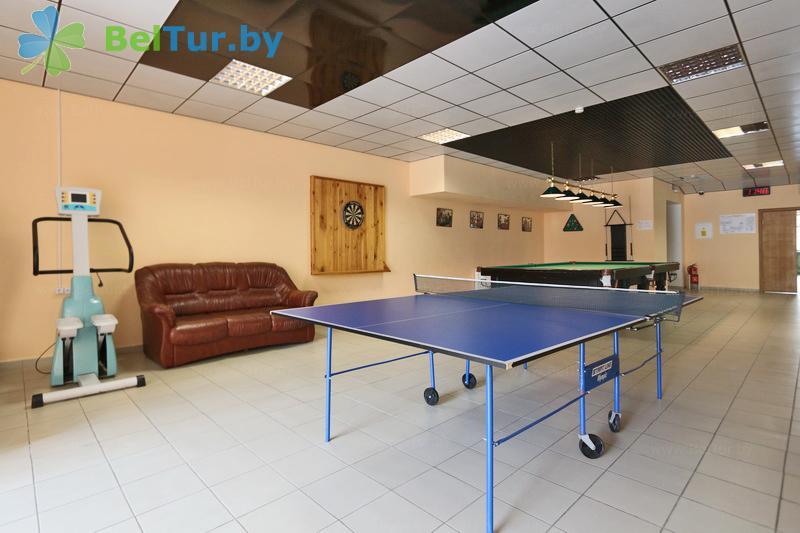 Отдых в Белоруссии Беларуси - гостиничный комплекс Каменюки - Теннис настольный