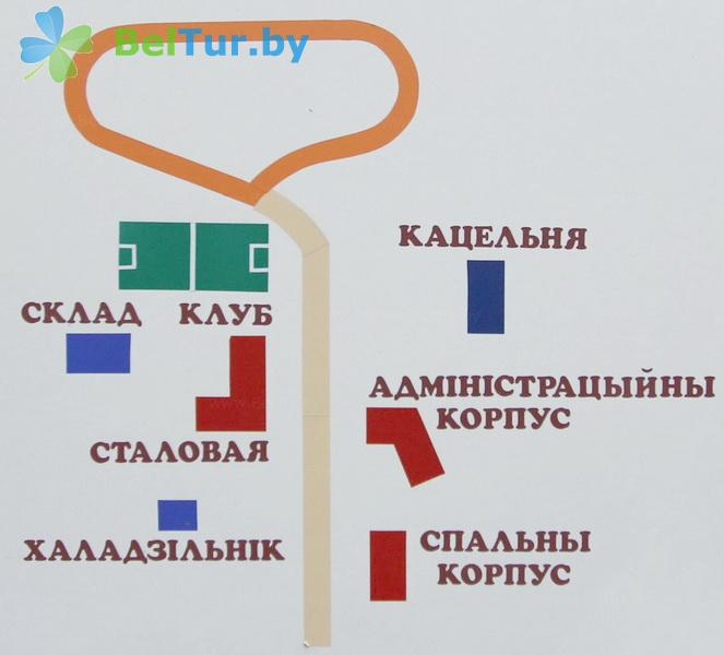 Отдых в Белоруссии Беларуси - база отдыха Лесная поляна - Схема территории