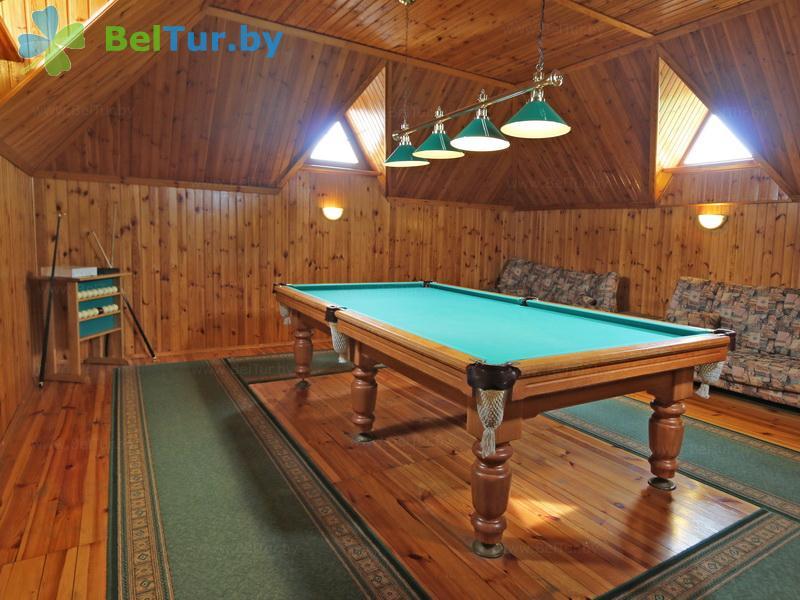 Отдых в Белоруссии Беларуси - база отдыха Сябры - Бильярд