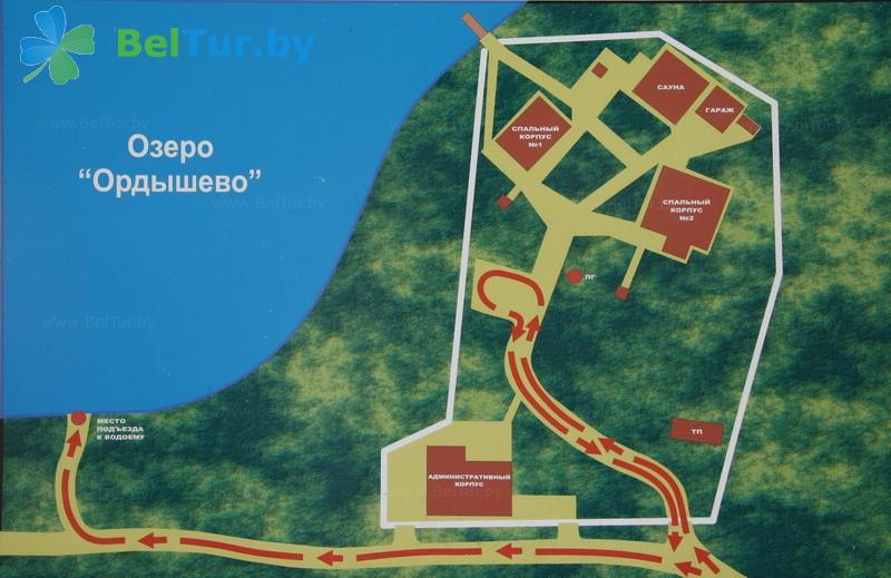 Отдых в Белоруссии Беларуси - база отдыха Бодрость - Схема территории